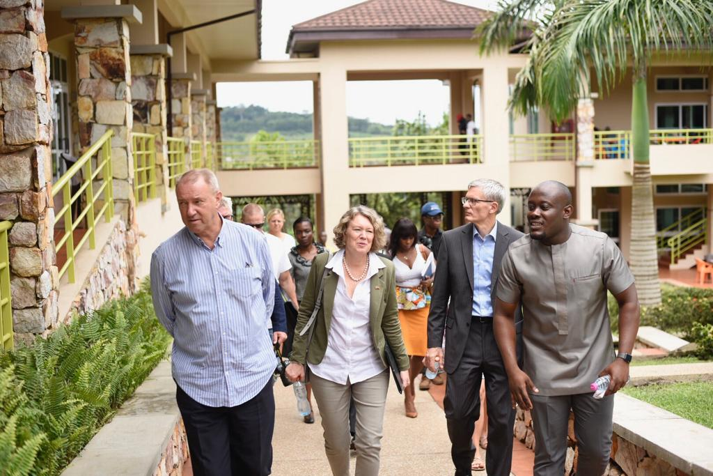 The Dutch and Danish Ambassadors visit the Ghana Climate Innovation Centre at Ashesi University