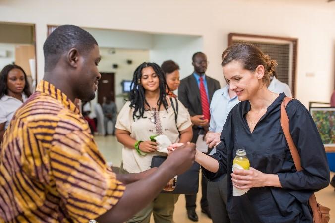 Katja Lasseur, Deputy Dutch Ambassador Visits Ghana CIC