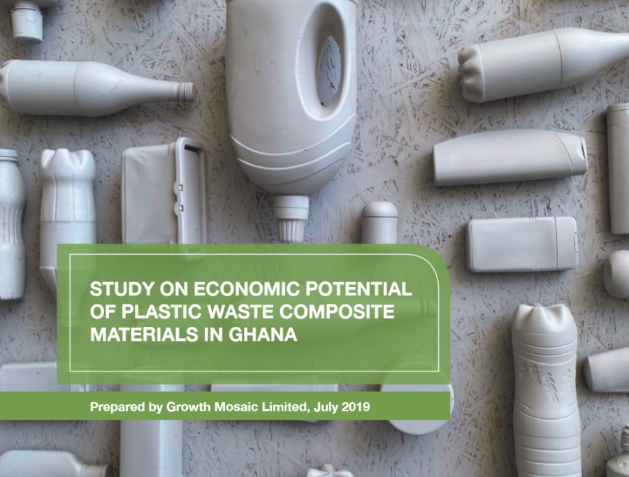 Study on Economic Potential of Plastic Waste Composite Materials in Ghana